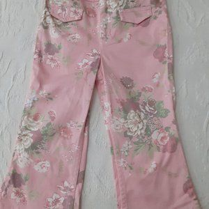 Girls Floral Jeans Size 6